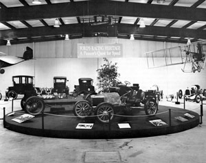 Quest For Speed Exhibit with historic vehicles borrowed from Henry Ford Museum and Greenfield Village.